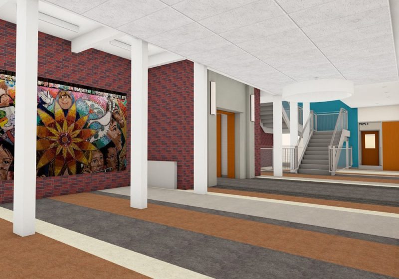 Cabot Elementary Entry hallway